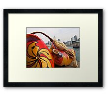 a traditional Dutch shoe on not such a traditional trip to Hong Kong Framed Print