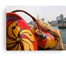 a traditional Dutch shoe on not such a traditional trip to Hong Kong Canvas Print