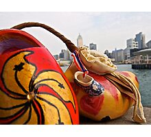 a traditional Dutch shoe on not such a traditional trip to Hong Kong Photographic Print