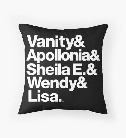 Prince Protégés Apollonia & Carmen Electra Helvetica Threads Throw Pillow