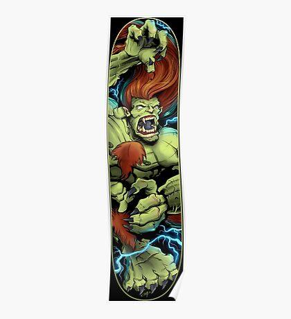 Blanka Street Fighter Skate Deck Poster