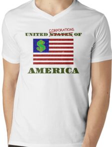 The United Corporations of America Mens V-Neck T-Shirt