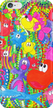 Gang's All Here: iPhone Case by Sammy Nuttall