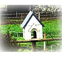 Little Bird House on side of Horse yard. Photographic Print