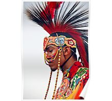 Young Pow Wow Dancer Poster