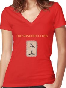 Lady in the Mist Women's Fitted V-Neck T-Shirt