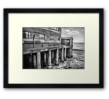 Standing in water Framed Print