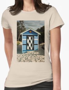 0057 Beach Box or Tardis ? Womens Fitted T-Shirt