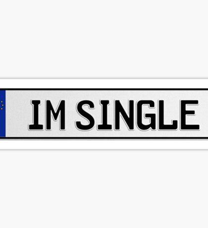 Euro plate - im single Sticker