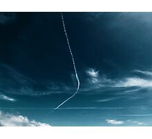 Jet trails over the beach Photographic Print