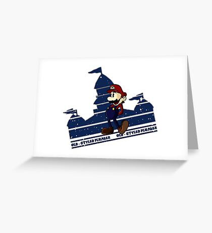 Old-Styled Mario Greeting Card
