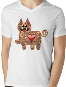KITTEN 2/6 Mens V-Neck T-Shirt