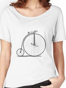Bicycle Vintage High Wheeler Victorian Penny Farthing Cycle Biking		 Women's Relaxed Fit T-Shirt