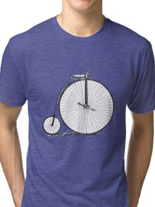 Bicycle Vintage High Wheeler Victorian Penny Farthing Cycle Biking		 Tri-blend T-Shirt