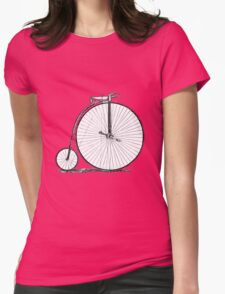 Bicycle Vintage High Wheeler Victorian Penny Farthing Cycle Biking		 Womens Fitted T-Shirt