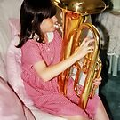 Michaela and her Euphonium  by AnnDixon