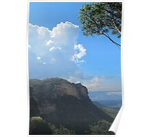 Cumulus Clouds over the Blue Mountains Poster