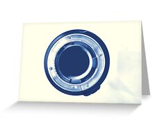 Cyanotype Tamron Lens Greeting Card