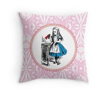 Alice in Wonderland - Drink Me Throw Pillow