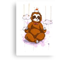 The Peaceful Zen Sloth Canvas Print