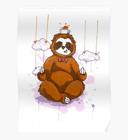 The Peaceful Zen Sloth Poster