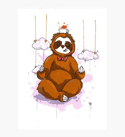 The Peaceful Zen Sloth Photographic Print