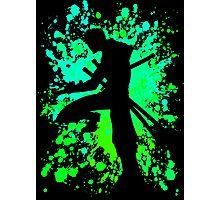 one piece roronoa zoro paint splatter anime manga shsirt Photographic Print