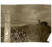 Barbed-wire fence Poster