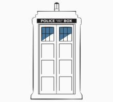 Multi-colour TARDIS One Piece - Short Sleeve