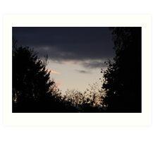 dark clouds, light chemtrails 2 Art Print