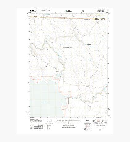 USGS Topo Map California Sagebrush Butte 20120314 TM Photographic Print