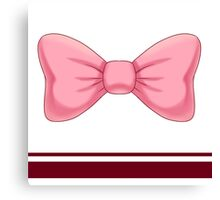 Pink Bow Canvas Print