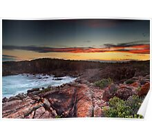 Boat Harbour Rocky Twilight  Poster