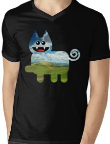 KITTEN 3/6 Mens V-Neck T-Shirt