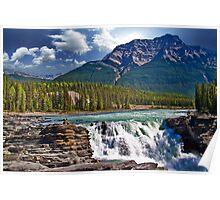Canada. Jasper National Park. Athabasca Falls. Poster