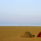 Tents on beach by Sami Sarkis