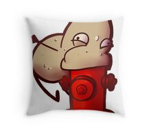 A Potato Eating A Fire Hydrant Throw Pillow