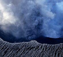 Smoking crater of Mount Benbow by Sami Sarkis