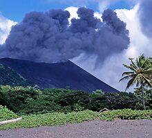 Smoking Yasur Volcano by Sami Sarkis