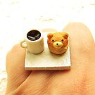 Coffee & Cream Puff Ring by souzoucreations