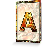 Fractal – Alphabet – A is for Abstract Greeting Card