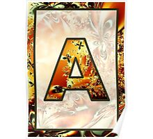 Fractal – Alphabet – A is for Abstract Poster