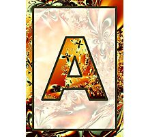 Fractal – Alphabet – A is for Abstract Photographic Print
