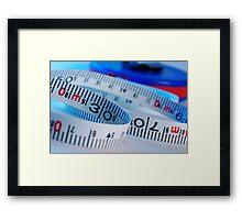 Tape measure Framed Print