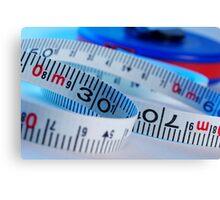 Tape measure Canvas Print
