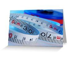 Tape measure Greeting Card