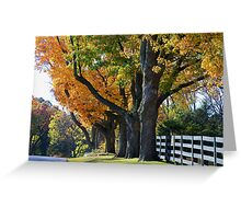 Rustic Road Greeting Card