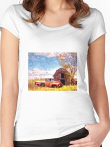 """Rural Americana"" Women's Fitted Scoop T-Shirt"
