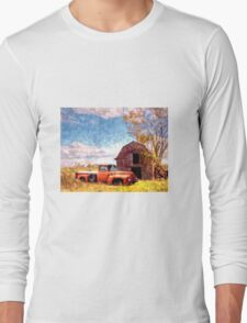 """Rural Americana"" Long Sleeve T-Shirt"