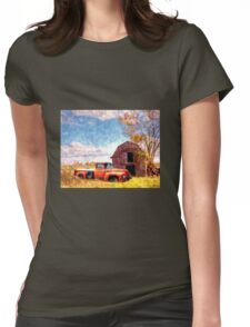 """""""Rural Americana"""" Womens Fitted T-Shirt"""
